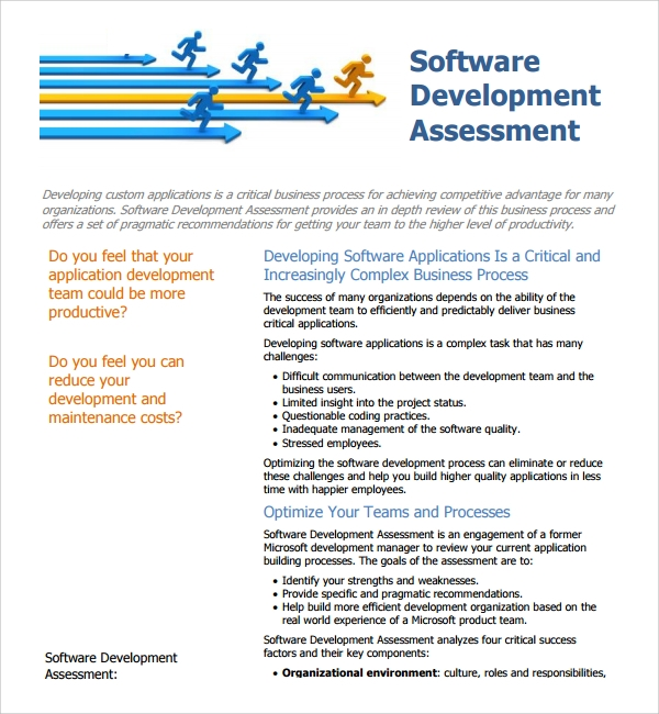 Sample Software Assessment Template   Free Documents In Pdf