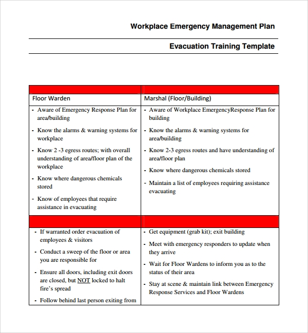 10 emergency response plan templates sample templates for Emergency operation plan template