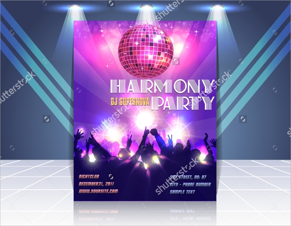 harmony party flyer