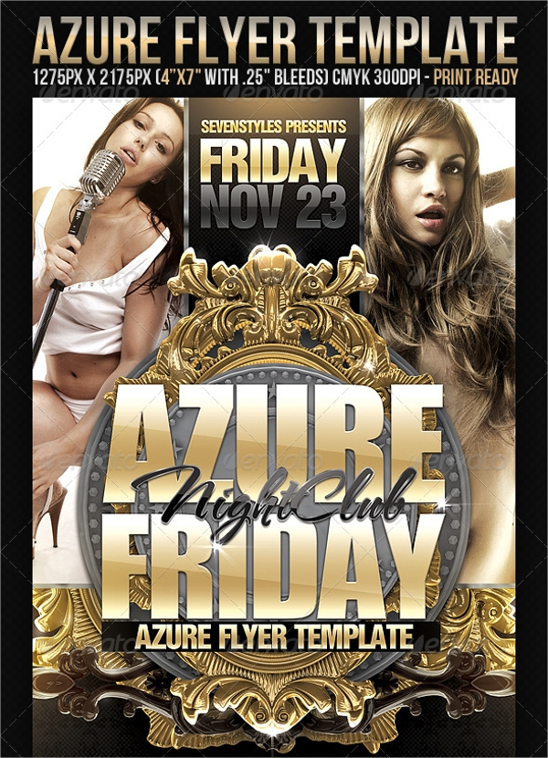 Azure Flyer Template   Download In Psd