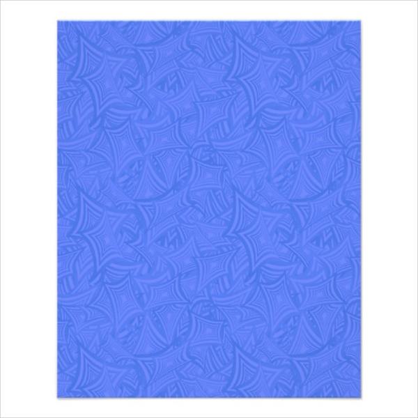 azure curved shape flyer