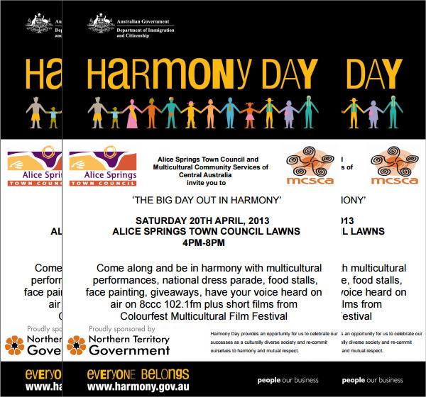 harmony day flyer