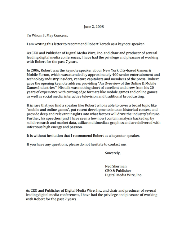 Sample letter of recommendation 20 free documents download in publisher recommendation letter spiritdancerdesigns Image collections