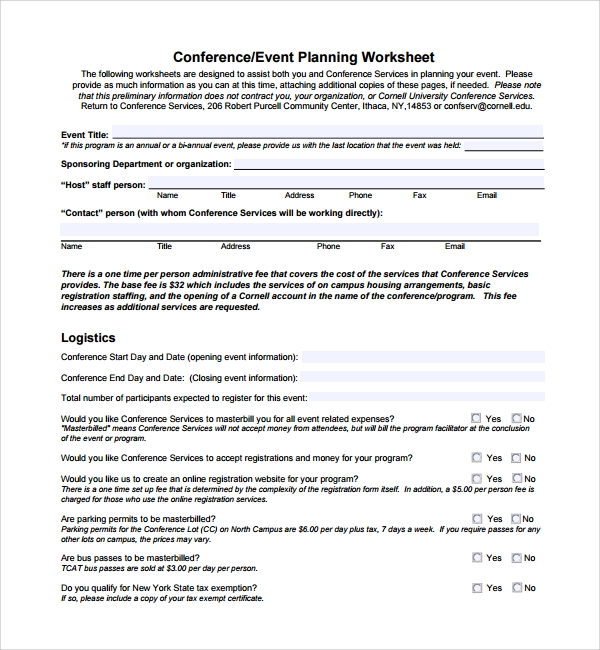 organising a business conference pdf