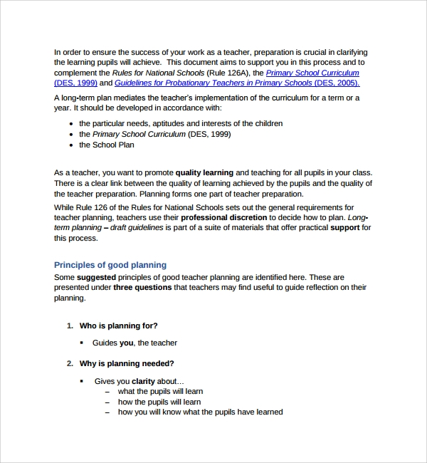 Sample Curriculum Planning Template 9 Free Documents in PDF Word – Curriculum Planning Template