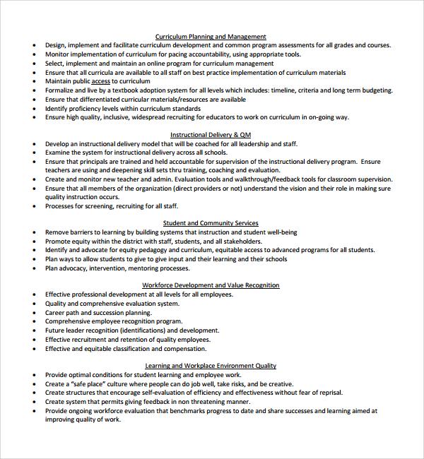 Sample Curriculum Planning Template 9 Free Documents in PDF Word – Curriculum Planning Template