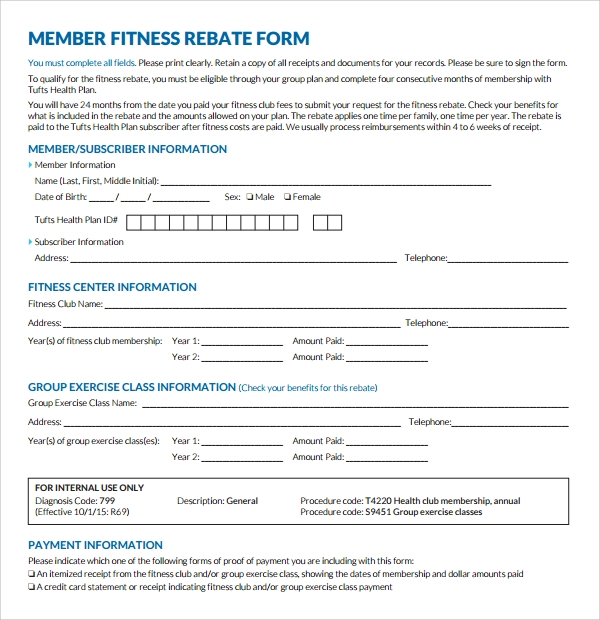 fitness plan form template%ef%bb%bf