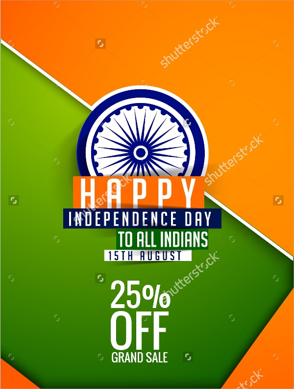 independence day offer sale flyer