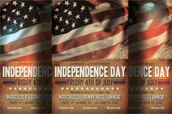 fabulous independence day flyer