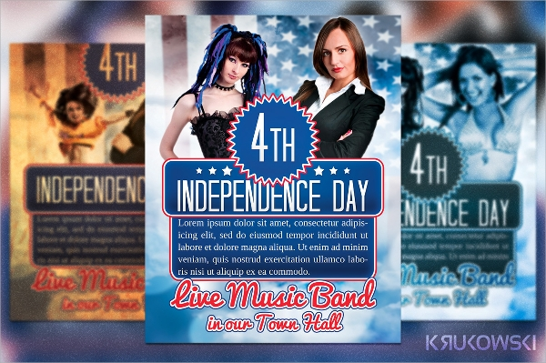psd file independence day flyer template