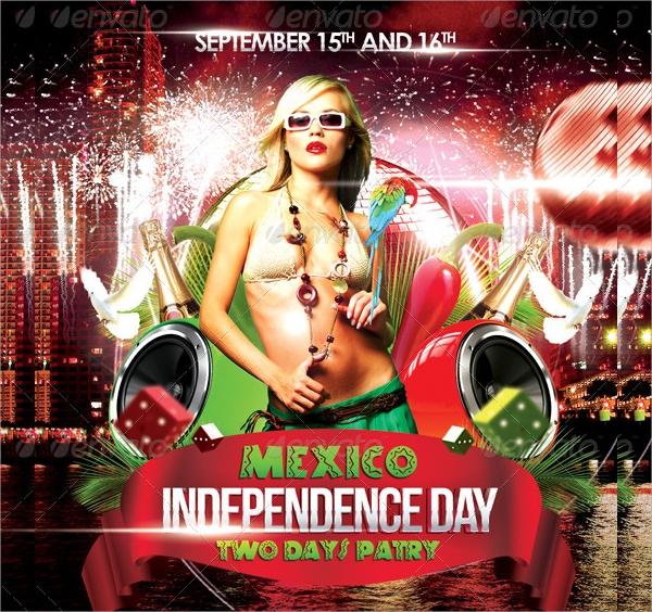 fully layered independence day flyer