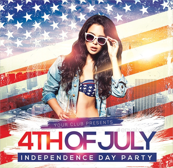 colorful independence day flyer template