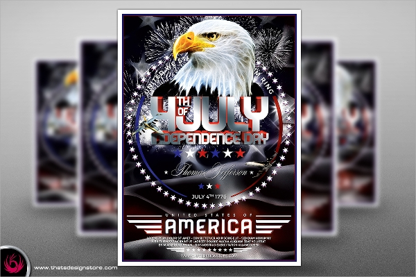 photoshop psd independence day flyer
