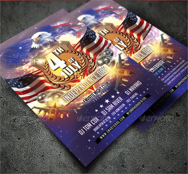 beautiful independence day flyer template