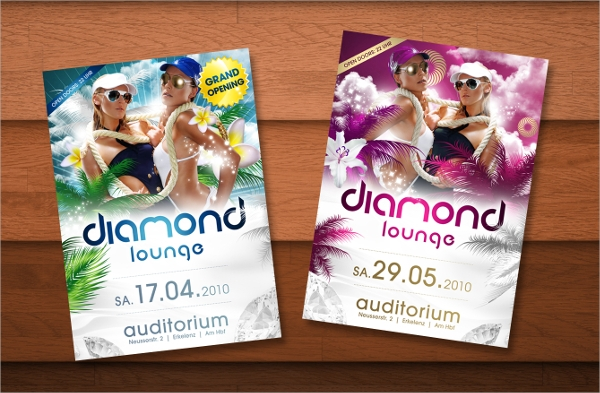 diamond lounge flyer template