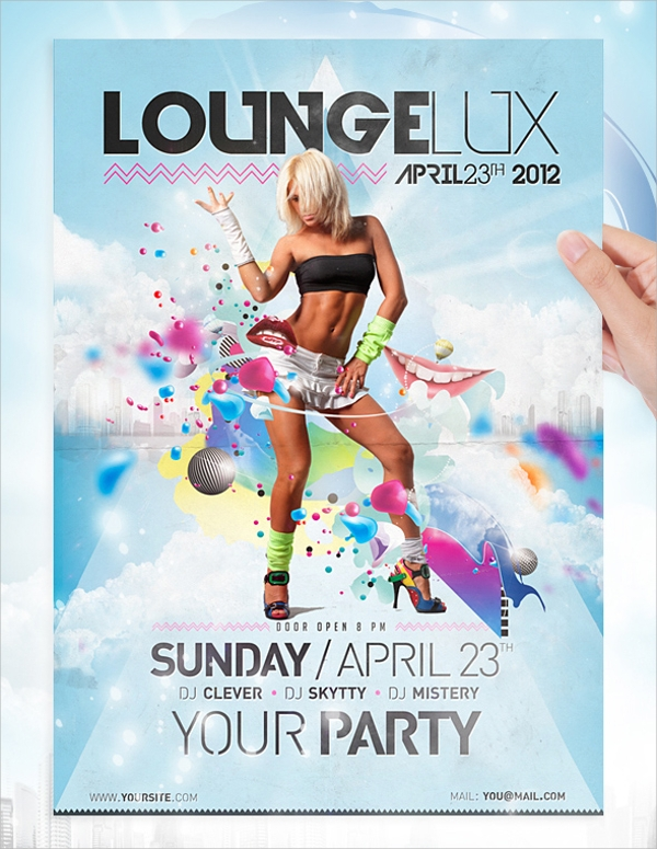 beautiful lounge flyer template