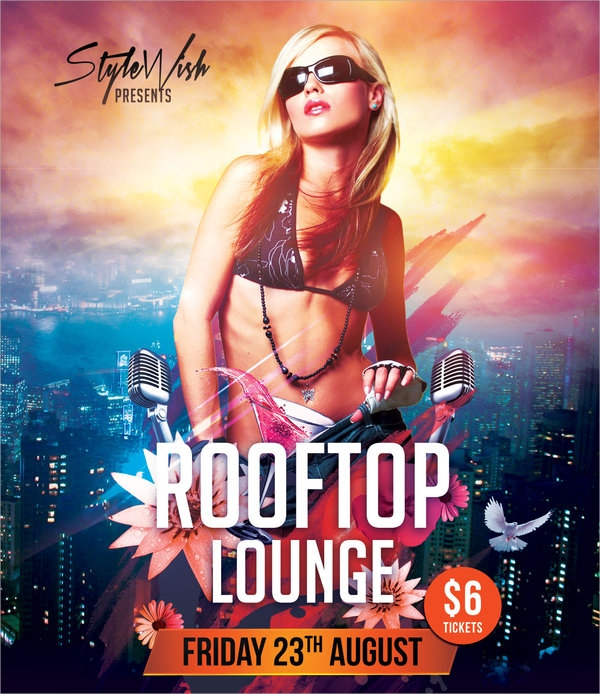 wonderful lounge flyer template