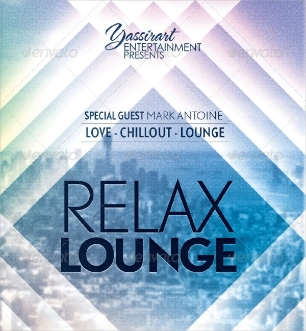 psd file format lounge flyer