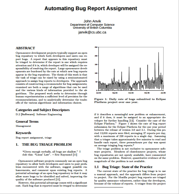 bug report template pdf
