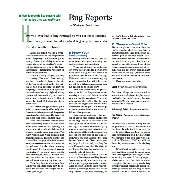 Sample Bug Report Template - 6+ Free Documents in PDF