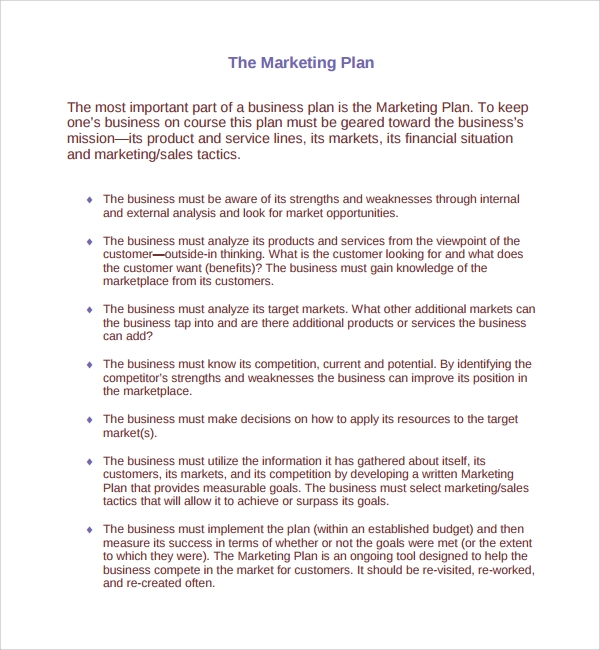 Sample Product Plan Template 8 Free Documents in PDF Word – Simple Sales Plan Template