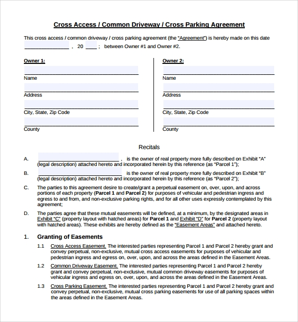 Sample Parking Agreement Template 11 Free Documents In Pdf Word