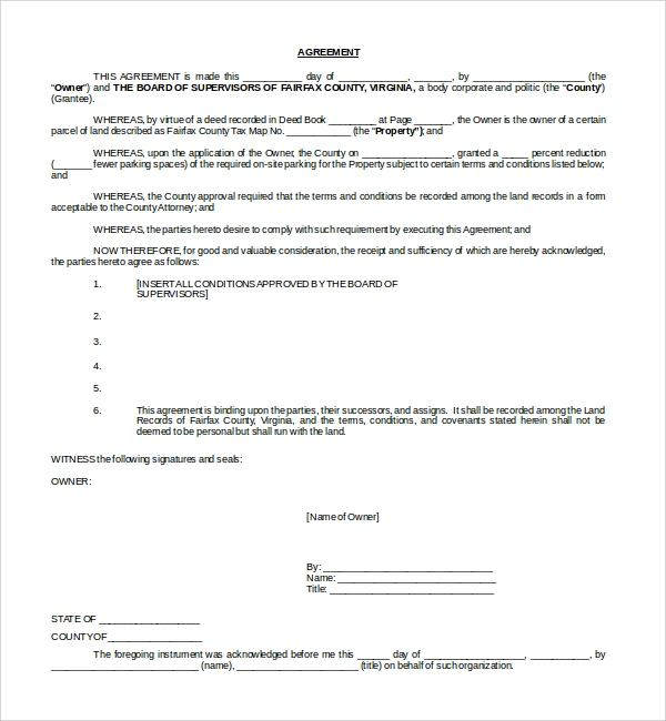 Sample Parking Agreement Template 9 Free Documents in PDF Word – Parking Agreement Template