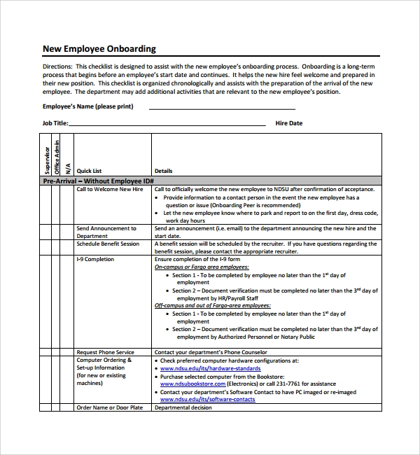 Sample Onboarding Plan Template 7 Free Documents In Pdf