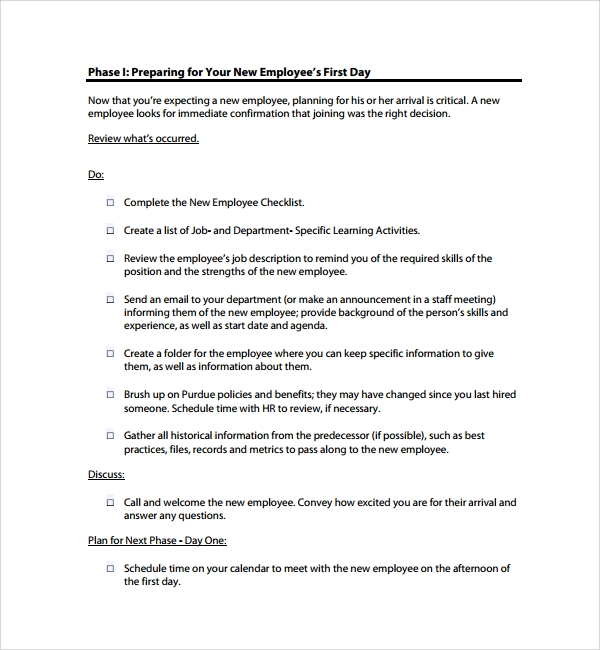Sample Onboarding Plan Template - 7+ Free Documents in PDF