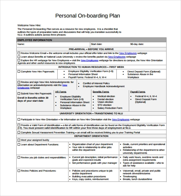 on boarding plan template%ef%bb%bf