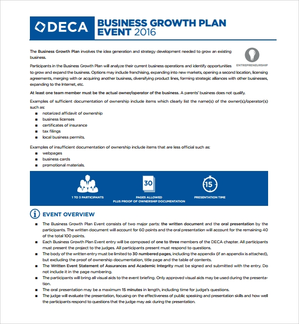 Sample growth plan template 8 free documents in pdf word business growth plan template pronofoot35fo Choice Image