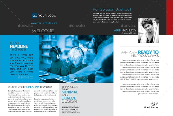 Technology Brochures Vector EPS PSD - Technology brochure template