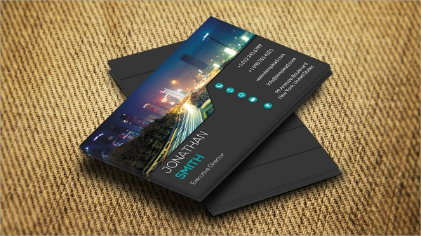 finance business card sample