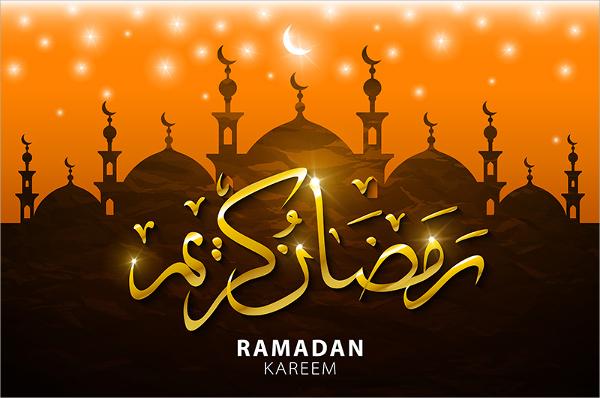 ramadan kareem religious brochure