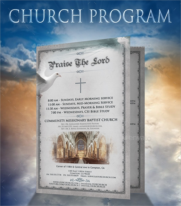 religious church brochure