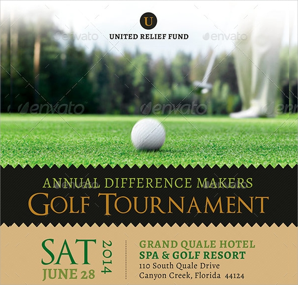 golf tournament flyer