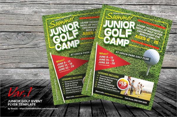 junior golf tournment flyer