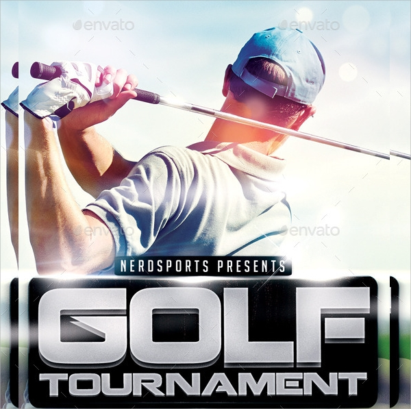 golf tournment sports flyer template