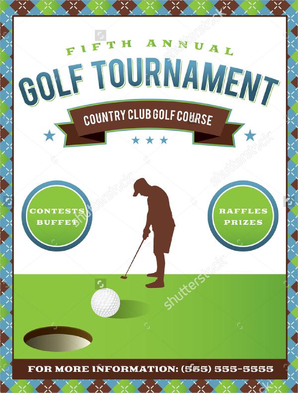 Golf Tournament Flyer Template   20  Download In Vector EPS PSD iJEMTnXB