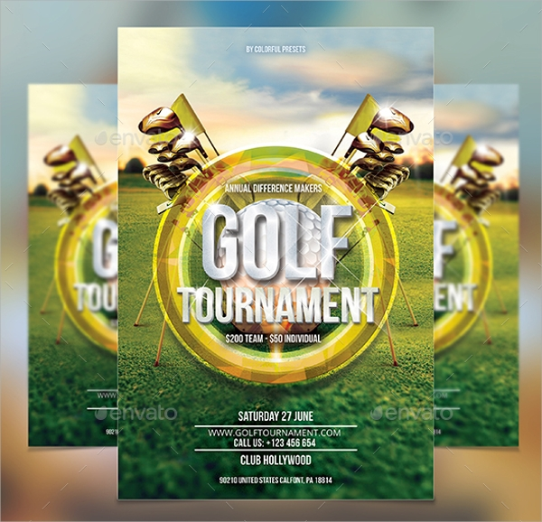 Golf Tournament Flyer Template Download Militaryalicious