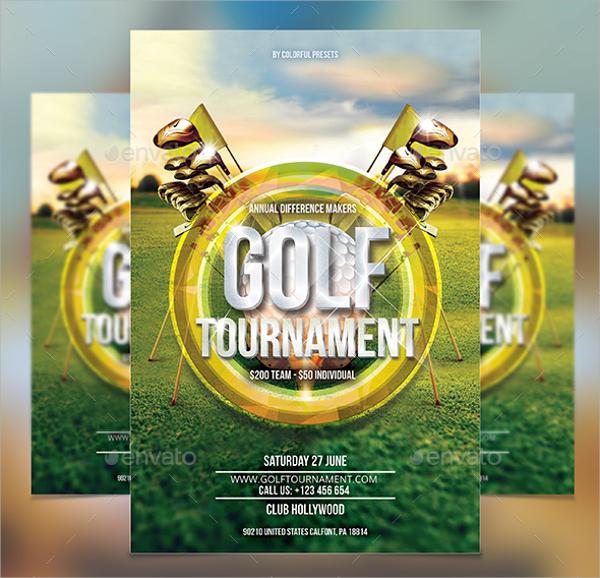 Golf Tournament Flyer Template   20  Download In Vector EPS PSD kuM4C9Vs