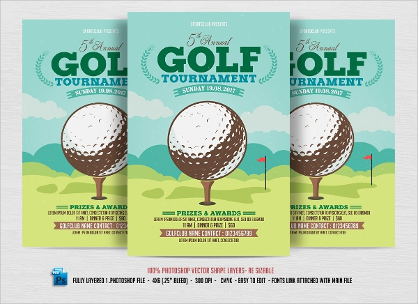 Golf Tournament Flyer Template   20  Download In Vector EPS PSD lDbPLg0l