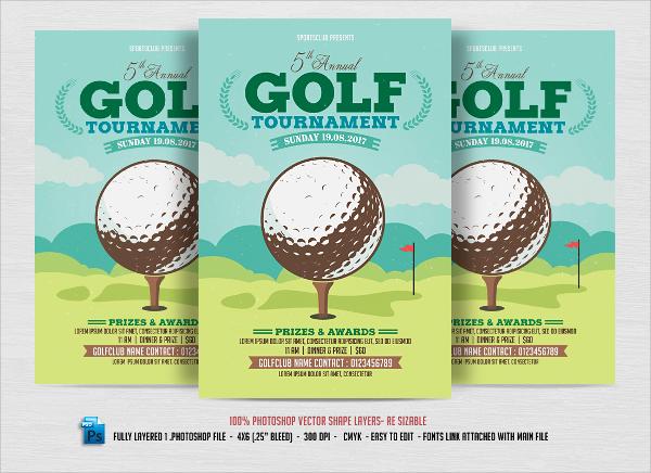 golf tournment flyer design template
