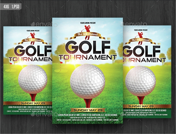 psd golf tournment flyer template