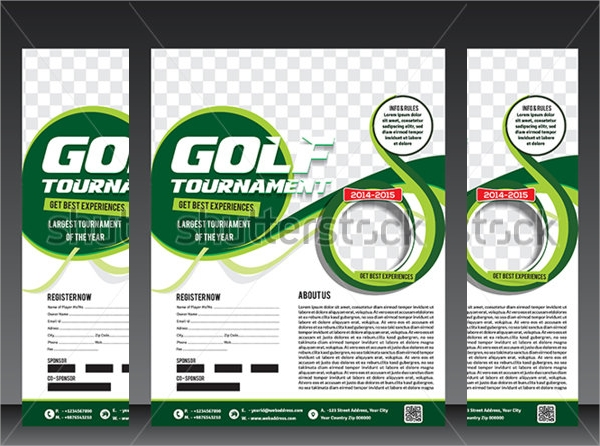 simple golf tournment flyer template