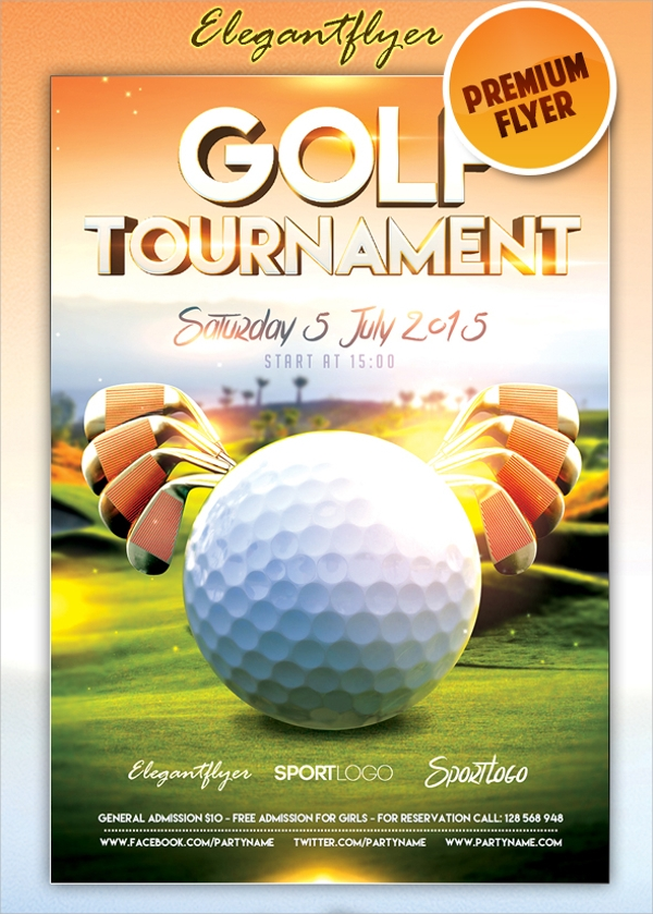 Wonderful Golf Tournment Flyer Template