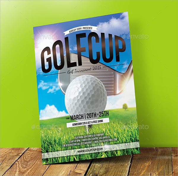 Golf Tournament Flyer Template   20  Download In Vector EPS PSD RynCruRZ