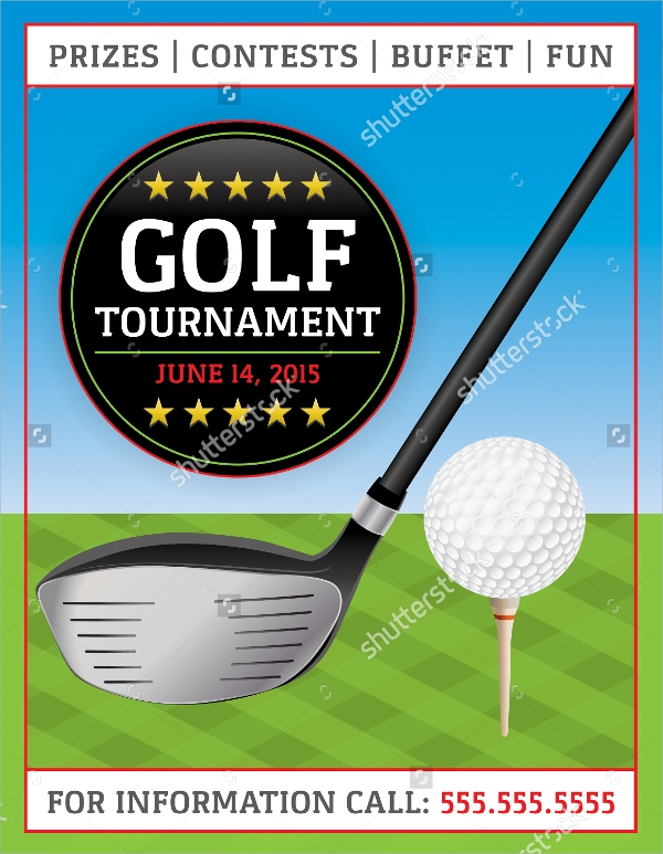 Golf tournament flyer template just b cause for Golf tournament budget template