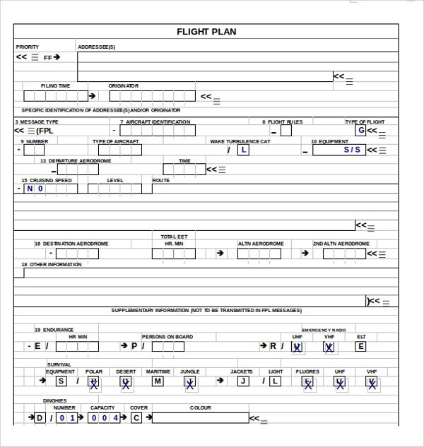 Sample Flight Plan Template - 9+ Free Documents In Pdf, Word