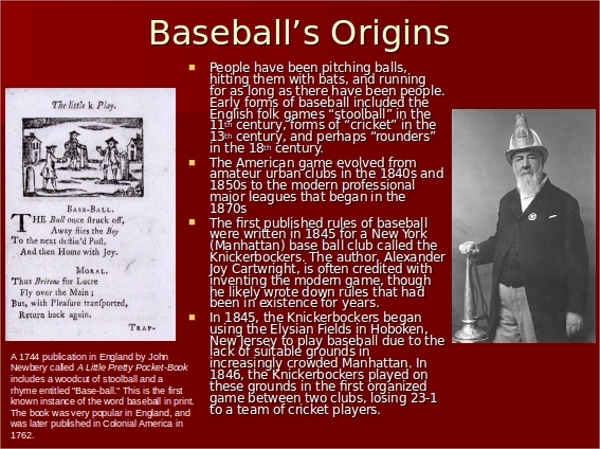 major league baseball powerpoint template